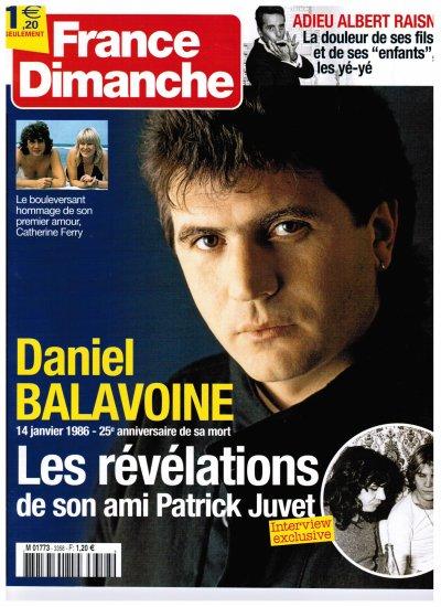 BALAVOINE A LA UNE de FRANCE DIMANCHE et Article sur GALA