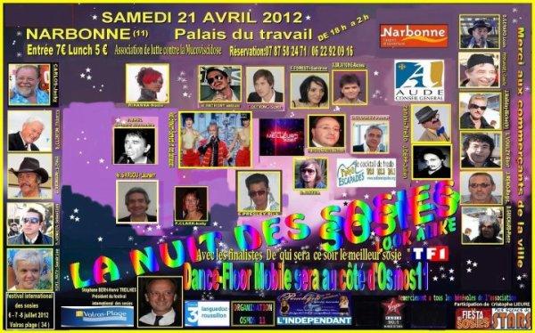 LA NUIT DES SOSIES ( Balavoine représenté par David Alexiou) Le 21 Avril 2012 à Narbonne