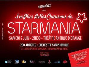 L'ASSOCIATION SPECTACUL'ART PRESENTE LE SPECTACLE  LES PLUS BELLES CHANSONS DE STARMANIA le  02 Juin 2012 A ORANGE