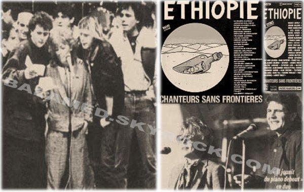 Ethiopie Chanteurs sans frontière 1985 (2/2) «Après tout, Sheila et Diane Dufresne sur la même scène, C. Jérôme et Higelin côte à côte, ça pouvait quand même exciter les plus blasés. » Daniel Balavoine.