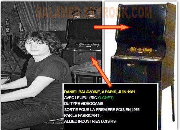 DANIEL BALAVOINE EN JUIN 1981  AVEC LA VIDEOGAME : RIC-O-CHET