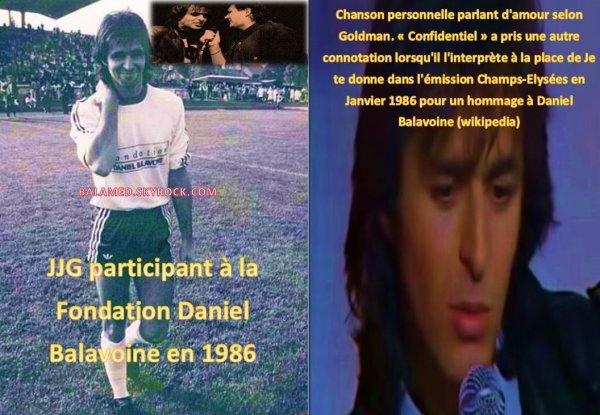 """De la Manifestation sportive en faveur de la Fondation Balavoine à la chanson """"Confidentiel"""". En hommage à son ami"""