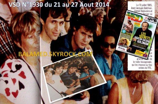 Balavoine dans le Magazine VSD N° 1930 du 21 au 27 Août 2014