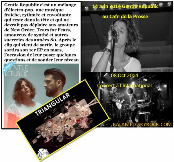 Interview de Joana Balavoine - Gentle Republic (Le groupe publie son premier EP le 30 mars 2015)