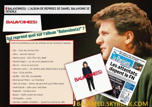 L'album hommage s'intitulera « Balavoine (s) » dès le 8 janvier 2016 dans vos bacs