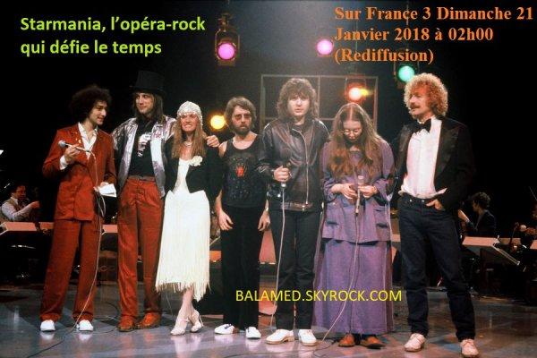 Starmania le 21 Janvier 2018 sur France 3 (Rediffusion)