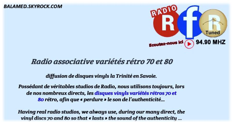 """LA RADIO RFR N'OUBLIE PAS """"LE CHANTEUR"""""""