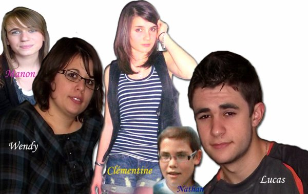 Je les adore, Wendy, Nathan, Clémentine, Lucas, Manon....12 ans ont passé déjà !!!
