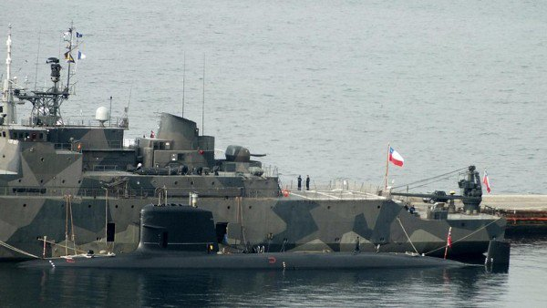 sous marin ss carrera après sa collision du 18.07.2014