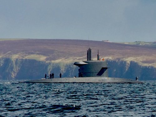 sous marin neerlandais observé a scapa flow