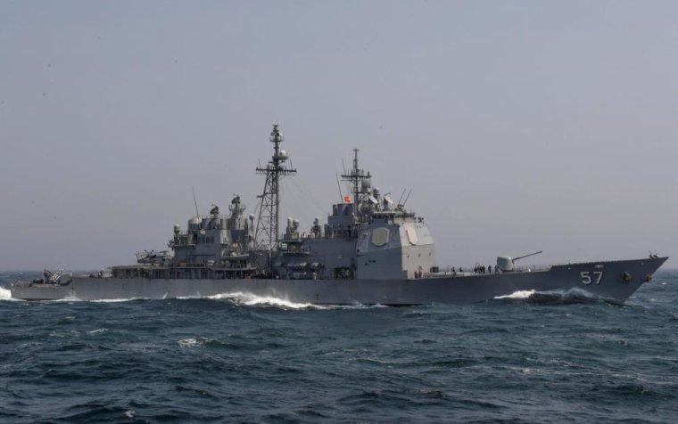 colision entre un croiseur americain et un chalutier