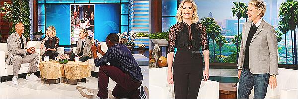 """"""" 01/04/15 : Ashley Benson était présente sur le plateau télévision du « Ellen DeGeneres Show » - située aux USA.  Ashley à parler du fait qu'elle aimerait beaucoup un vélo ! Personnellement, je trouve cet interview très amusante ! J'aime beaucoup sa tenue, top !  """""""