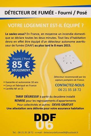 Entreprise et Société de détecteur de fumée à Nice, Cannes, Menton, Monaco.