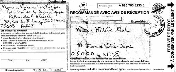 Après deux ans d'action en France, Frédéric Vidal Rencontre François Hollande par Missive Interposée.