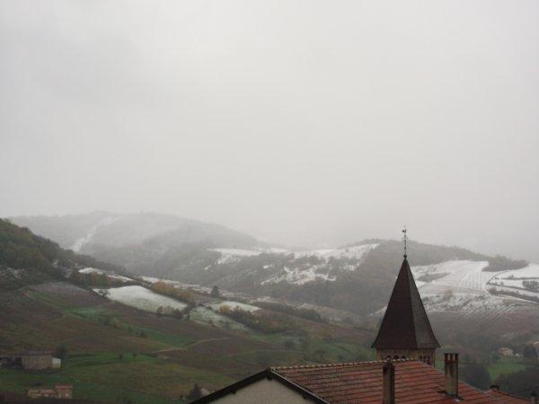la neige est tombee