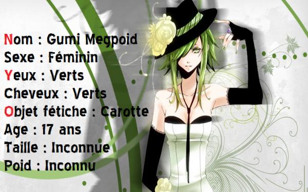 Gumi Megpoid, présentation.