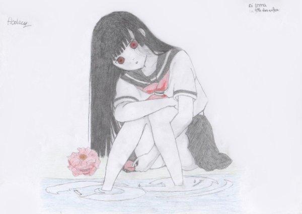 Dessin : La fille des enfers.
