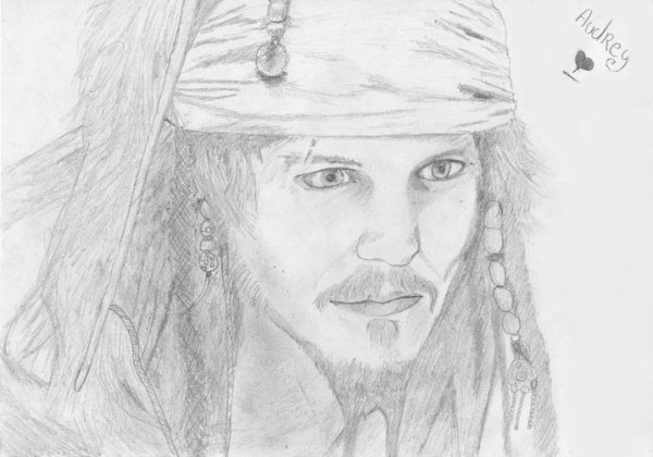 Dessin : Jack Sparrow (Johnny Depp) <3