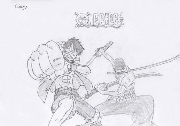 Dessin : Luffy & Zoro.