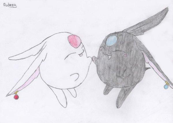 Mokona & Modoki. ( Pour Sofuto-drawings )