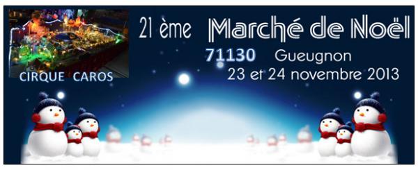 MARCHE DE NOEL DE GUEUGNON (71) AVEC PLUS DE 8000 VISITEURS AU COMPTEUR DIMANCHE SOIR.......