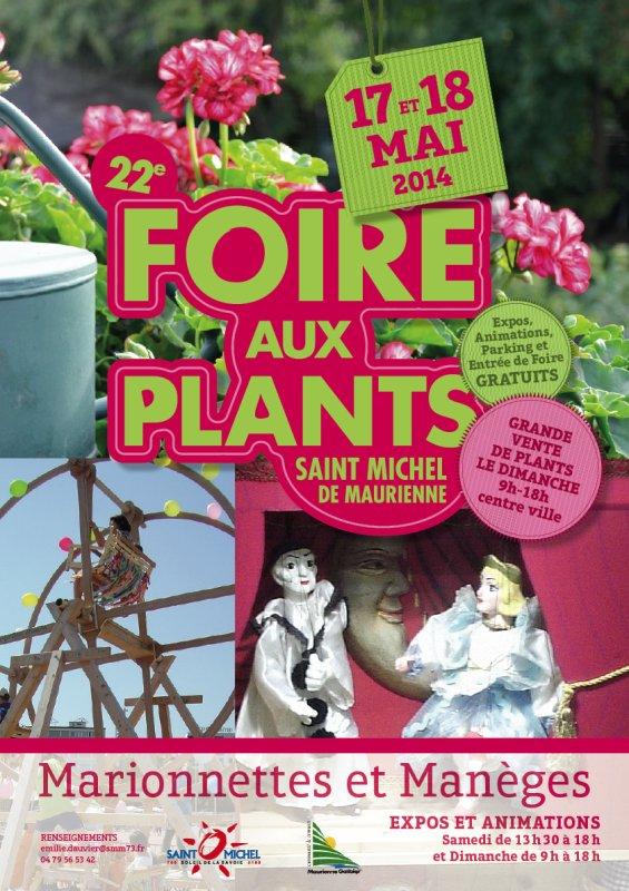 NOTRE PARTICIPATION A '' LA FOIRE AUX PLANTS 2014 '' DE ST MICHEL DE MAURIENNE (SAVOIE)