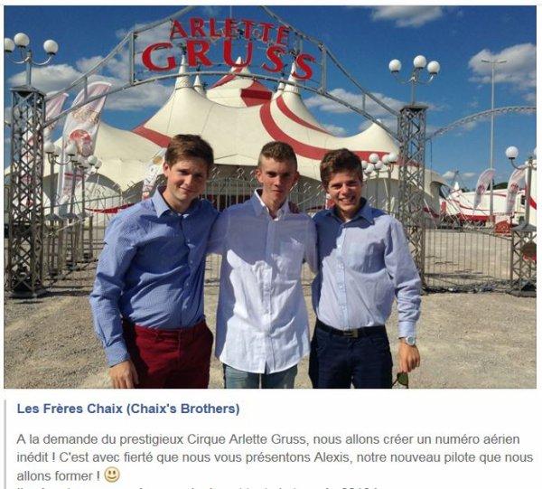 NOS AMIS LES CHAIX AU PRESTIGIEUX CIRQUE ''ARLETTE GRUSS'' ET BIENTOT A NOS COTES AU SALON DE BOURBON-LANCY (71)....