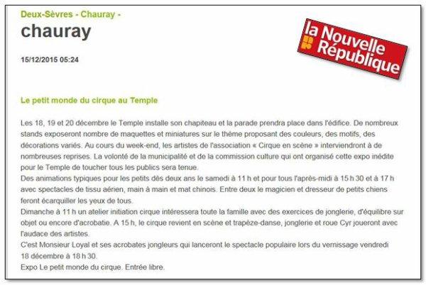 EXPOSITION, ''AU TEMPLE DE CHAURAY (79)'', ENDROIT MYTHIQUE ET REMPLI DE POESIE.....