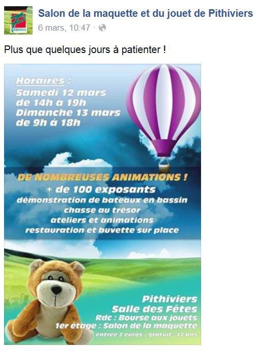 Le Cirque ''CAROS'' A PLANTE SON CHAPITEAU AU MAGNIFIQUE SALON de PITHIVIERS les 12/13 Mars 2016 ........