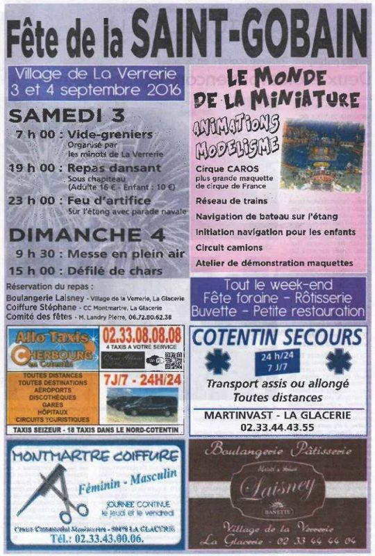FETE DE LA ST GOBAIN ( LA GLACERIE 50).......