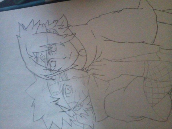 Sasunaru dessin en cours