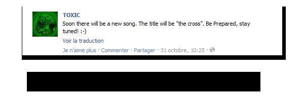 # 7 - 13 Novembre 2011. News.   Nouveau titre : «La croix»