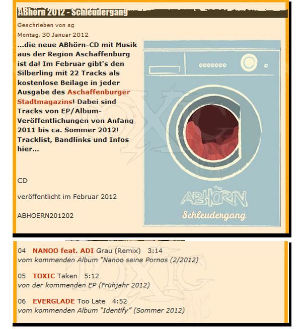 # 8 - 13 Février 2012. Presse.   Toxic dans un magazine local de Aschaffenburg.