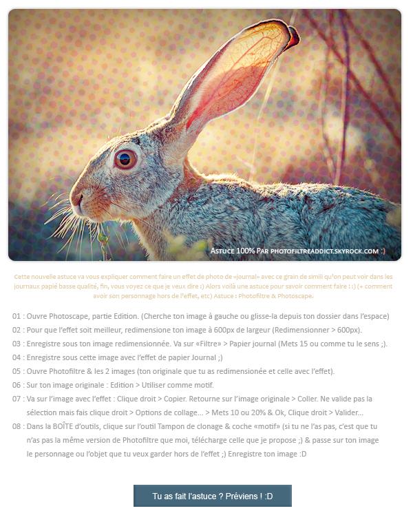 - Faire un effet de Photo Journal Logiciels : Photoscape & Photofiltre - Niveau : Apprenti - Temps : 6 min -
