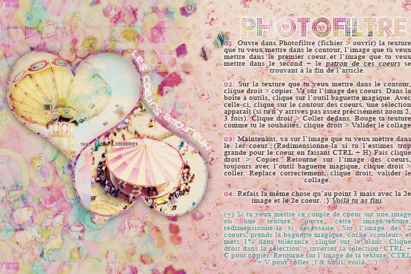 - --Les coeurs amoureux ♥-- Logiciels : Photofiltre & Photoshop | Niveau : Débutant/Apprenti | Temps : +/- 3 minutes -