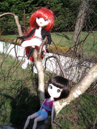 Rencontre pullipienne--Dans le jardin !