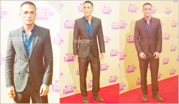 • 6 Septembre 2012 : Colton aux MTV Vidéo Music Awards.   Holland, Crystal, Tyler P, Tyler H, et Keahu étaient présent aussi.  Colton était très beau et élégant !