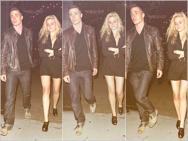 • 02 Nov. Colton quittant le restaurant Bagatelle avec AJ Michalka.
