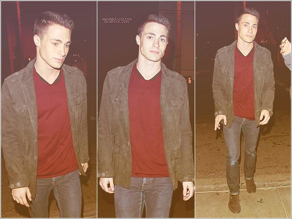 • 09 Nov. Colton sortant du restaurant Bagatelle avec un ami.
