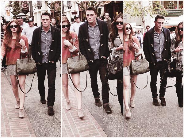 • 15 Déc. Colton faisant du shopping dans The Grove avec Holland et Ally.