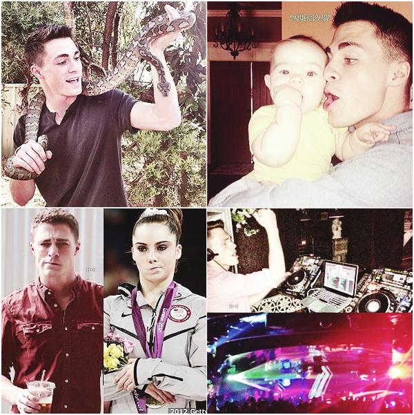 •  Quelques photos que Colton a récemment publié sur Instagram...       J'adore celle avec le serpent, et celle où il est avec son neveu.