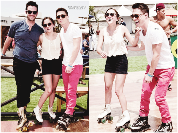 [font =consolas] • 1 Juin. Colton Just Jared's Summer Kick-Off Party   Qu'il est beau.. J'adore sa tenue ♥