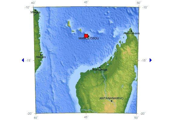 Un tremblement de terre a été ressenti dans les trois îles de l'archipel des Comores