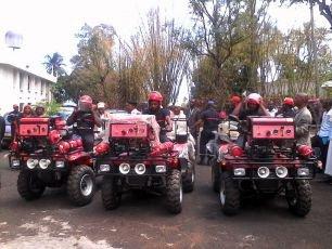Ngazidja offre des motos anti-incendie à la sécurité civile