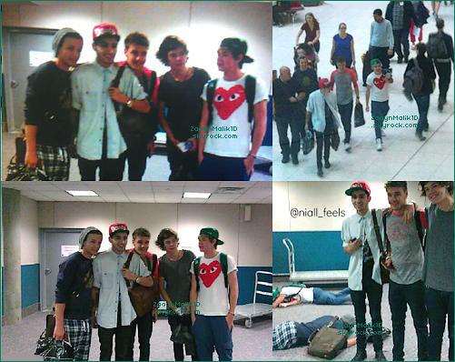 01 Septembre ▬ Zayn et les garçons étaient à l'aéroport de Tampa en Floride pour un vol en direction de Los Angeles.