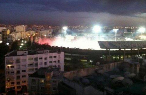 Wydad Fans: Le stade d'honneur en fumé...