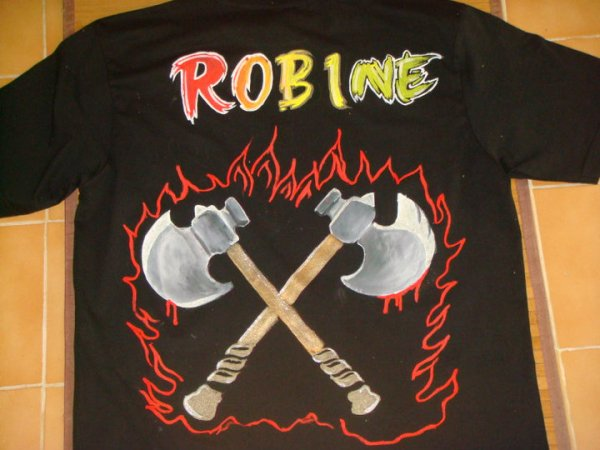 T-shirt customisé : Robine + Hache
