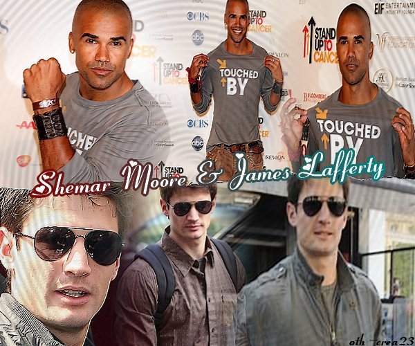 James Lafferty & Shemar Moore Newletter