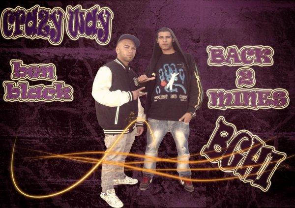 les deux frolo : ben black and back 2mine..... les jeunes rappeur en francais de futur incha allah