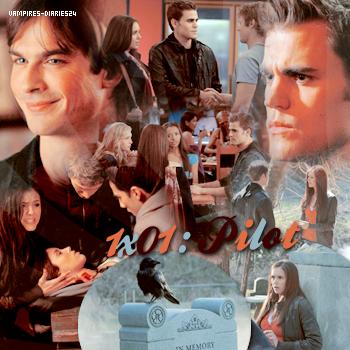 Saison 1 episode 1 la première fois que Elena et Stefan se rencontre